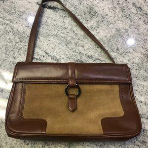Vintage BCBG shoulder bag in brown suede